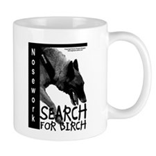 Malinois Nose work search birch Mug