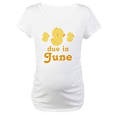 June Due Date Maternity Baby Duck Shirt