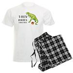 T-Rex hates Christmas Men's Light Pajamas