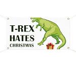 T-Rex hates Christmas Banner