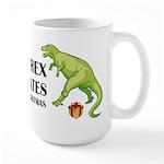 T-Rex hates Christmas Large Mug