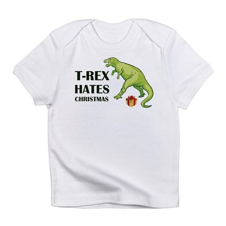 T-Rex hates Christmas Infant T-Shirt