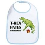 T-Rex hates Christmas Bib