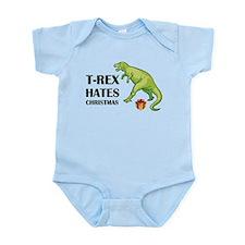 T-Rex hates Christmas Infant Bodysuit