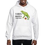T-Rex hates Christmas Hooded Sweatshirt