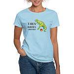 T-Rex hates Christmas Women's Light T-Shirt
