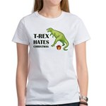 T-Rex hates Christmas Women's T-Shirt