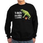 T-Rex hates Christmas Sweatshirt (dark)
