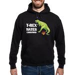 T-Rex hates Christmas Hoodie (dark)