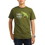 T-Rex hates Christmas Organic Men's T-Shirt (dark)