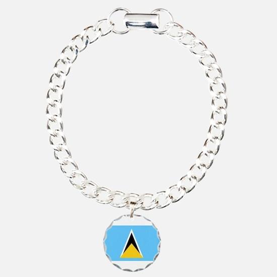 Saint Lucia - National Flag - Current Bracelet