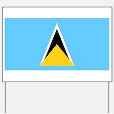 Saint Lucia - National Flag - Current Yard Sign