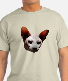 bald kitty Ash Grey T-Shirt