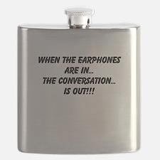 Earphones in, conversation out (beastmode) Flask