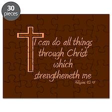 Philippians 4 13 Brown Cross Puzzle