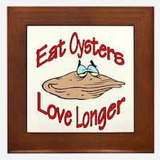 eatoysters.jpg Framed Tile