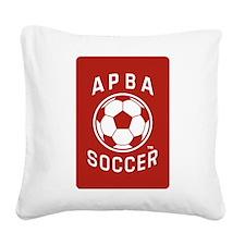 APBA Soccer Card Square Canvas Pillow