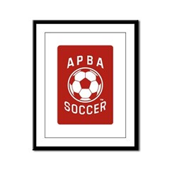 APBA Soccer Card Framed Panel Print