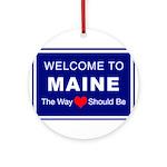 Maine Love Ornament (Round)