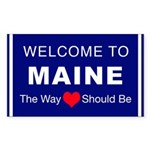 Maine Love Sticker (Rectangle)