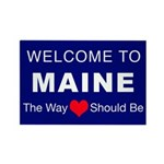 Maine Love Rectangle Magnet