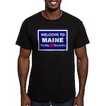 Maine Love Men's Fitted T-Shirt (dark)