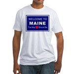Maine Love Fitted T-Shirt