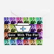 Going with the Flo.PNG Greeting Card