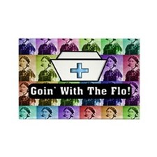 Going with the Flo.PNG Rectangle Magnet