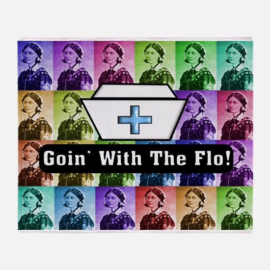 Going with the Flo.PNG Throw Blanket