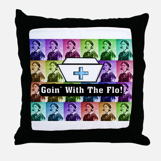 Going with the Flo.PNG Throw Pillow