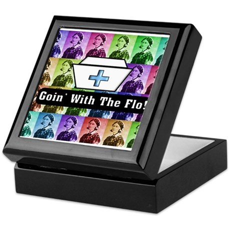 Going with the Flo.PNG Keepsake Box