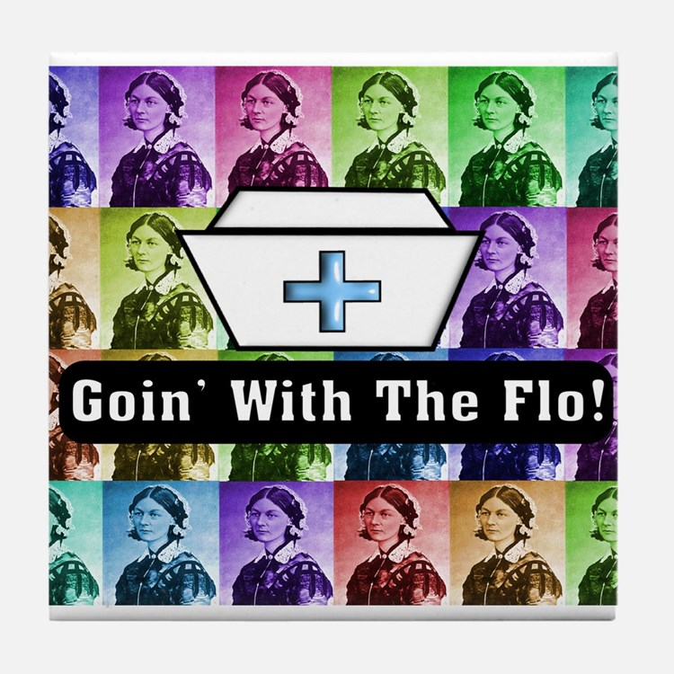 Going with the Flo.PNG Tile Coaster