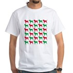 Bloodhound Christmas or Holiday Silhouettes White