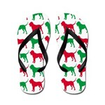 Bloodhound Christmas or Holiday Silhouettes Flip F