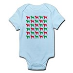 Bloodhound Christmas or Holiday Silhouettes Infant