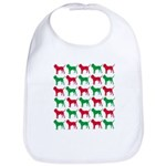 Bloodhound Christmas or Holiday Silhouettes Bib