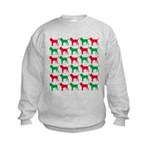 Bloodhound Christmas or Holiday Silhouettes Kids S