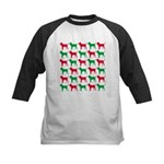 Bloodhound Christmas or Holiday Silhouettes Kids B