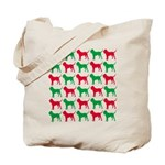 Bloodhound Christmas or Holiday Silhouettes Tote B