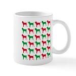 Bloodhound Christmas or Holiday Silhouettes Mug