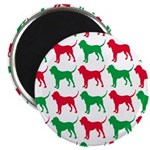 Bloodhound Christmas or Holiday Silhouettes Magnet