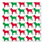 Bloodhound Christmas or Holiday Silhouettes Square