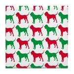 Bloodhound Christmas or Holiday Silhouettes Tile C