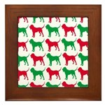 Bloodhound Christmas or Holiday Silhouettes Framed