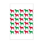 Bloodhound Christmas or Holiday Silhouettes Mini P