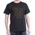 Bloodhound Christmas or Holiday Silhouettes Dark T