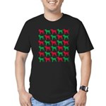 Bloodhound Christmas or Holiday Silhouettes Men's