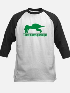 T-Rex Hates Pushups, Funny Dinosaur Tee