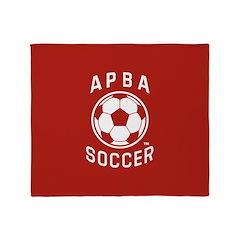 APBA Soccer Card Throw Blanket